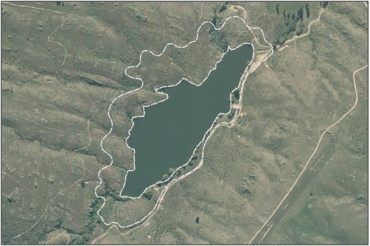 Aerial View of Conroys Dam Inland Saline Wetland Management Area (March 2006)