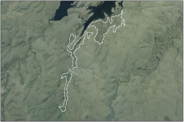 Aerial view of Middle Swamp (March 2006)