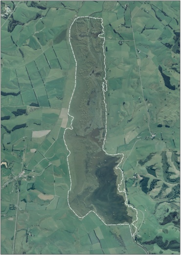 Aerial View of Lake Tuakitoto Wetland (March 2006)