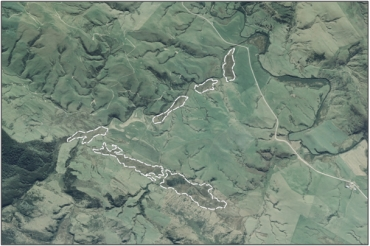 Aerial view of Wairepo Creek Marsh Complex (March 2006)