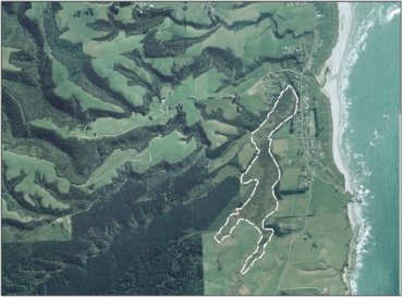 Aerial view of Coutts Gully Swamp (March 2006)