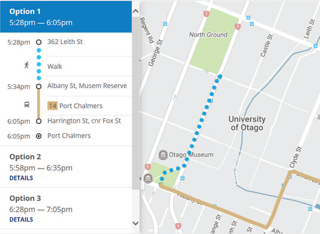 Bus Talk Accessing Busstop Info - Route planner walking google maps