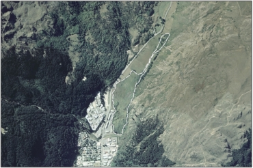 Aerial view of Matakauri Wetland (February 2006)