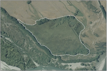 Aerial View of Shotover River Confluence Swamp (February 2006)