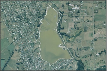 Aerial View of Hawksbury Lagoon (March 2006)