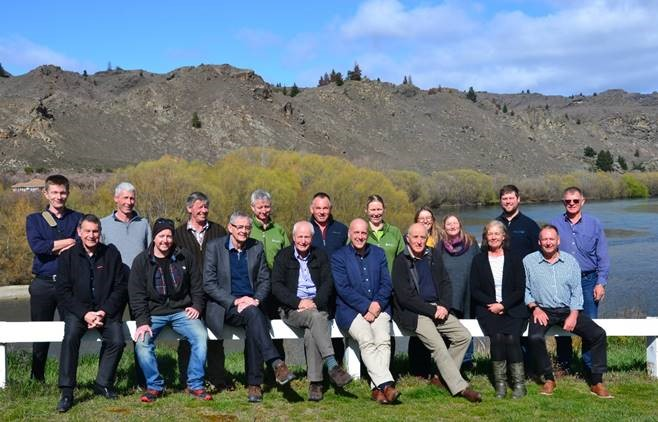 The Manuherekia Reference Group and ORC staff pictured at the confluence of the Manuherekia and Clutha River after their meeting on 11 September.
