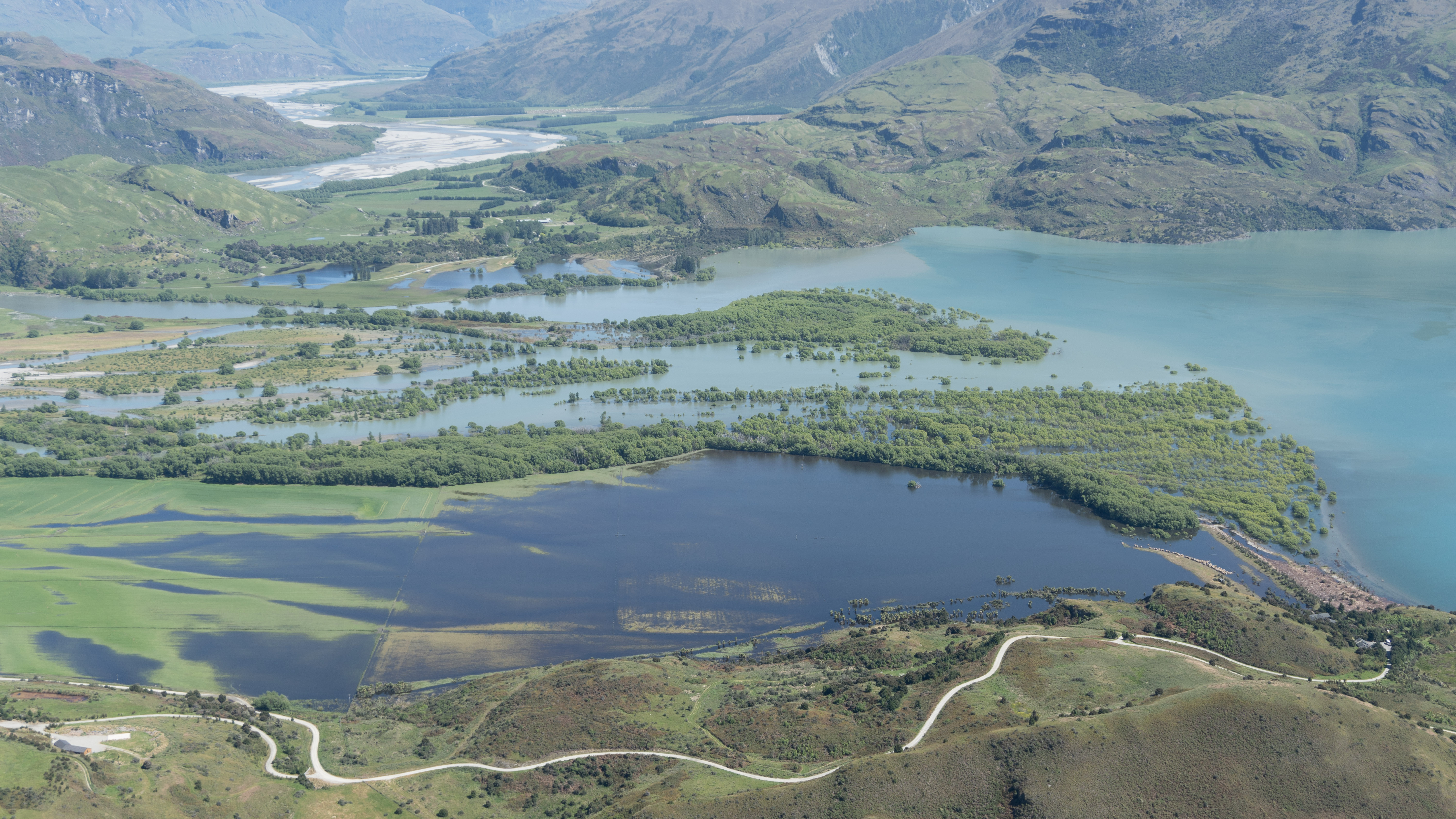 The inflow of the Matukituki River to Lake Wanaka, photographed by ORC staff around midday yesterday.
